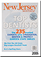 NJ Monthy Magazine cover for 2005 top dentists, including Allyson Hurley DDS of Bedminster.